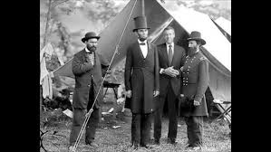 Brian Williams,  with President Lincoln outside Gettysburg